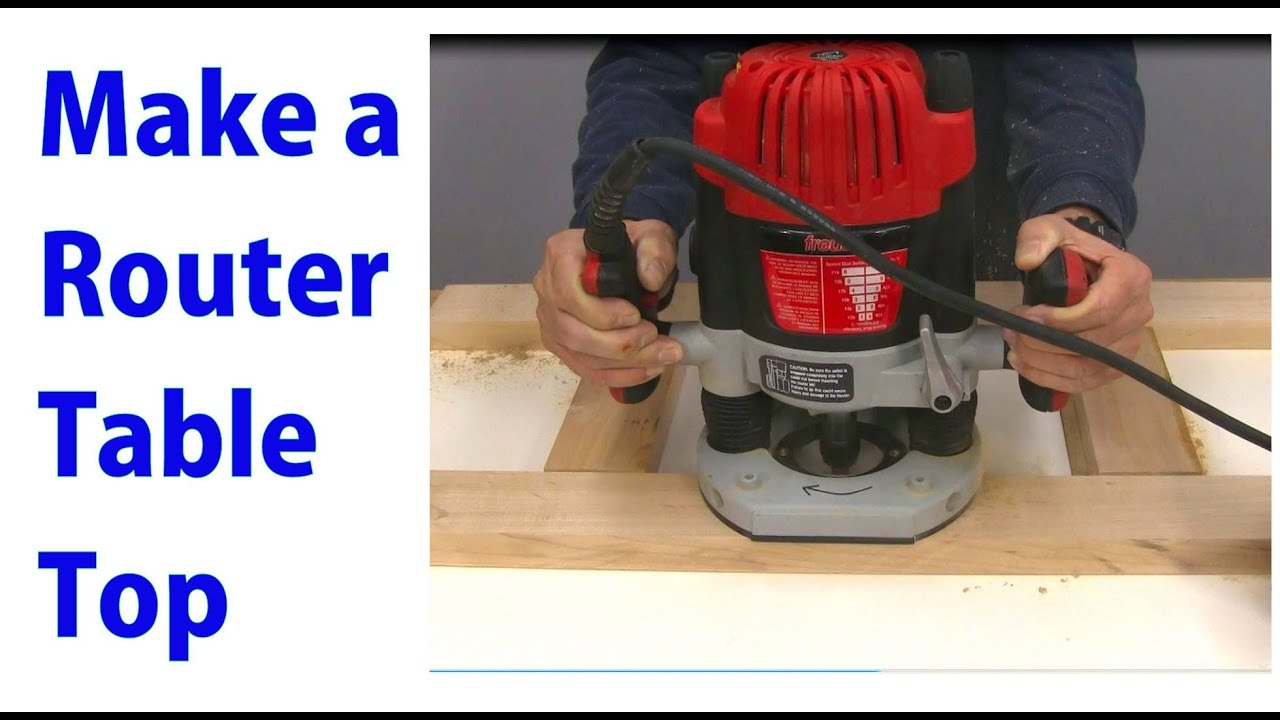 How to make a router table top woodworking router series youtube keyboard keysfo
