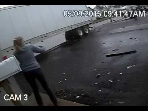 Semi Smashes Into Kenton, OH Trailer Dealership