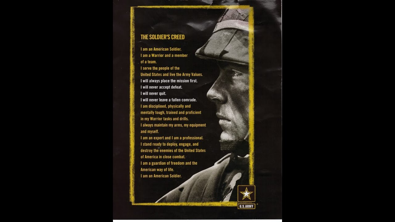 Free Wallpaper Quotes And Sayings Dod Army The Soldiers Creed The Foundation Of The