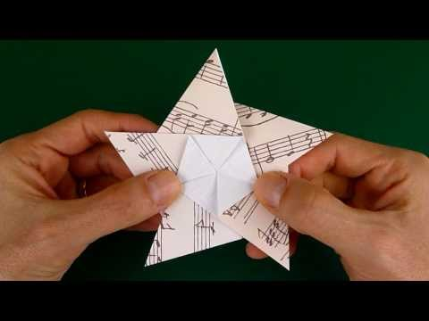 Folding a 5 Pointed Origami Star