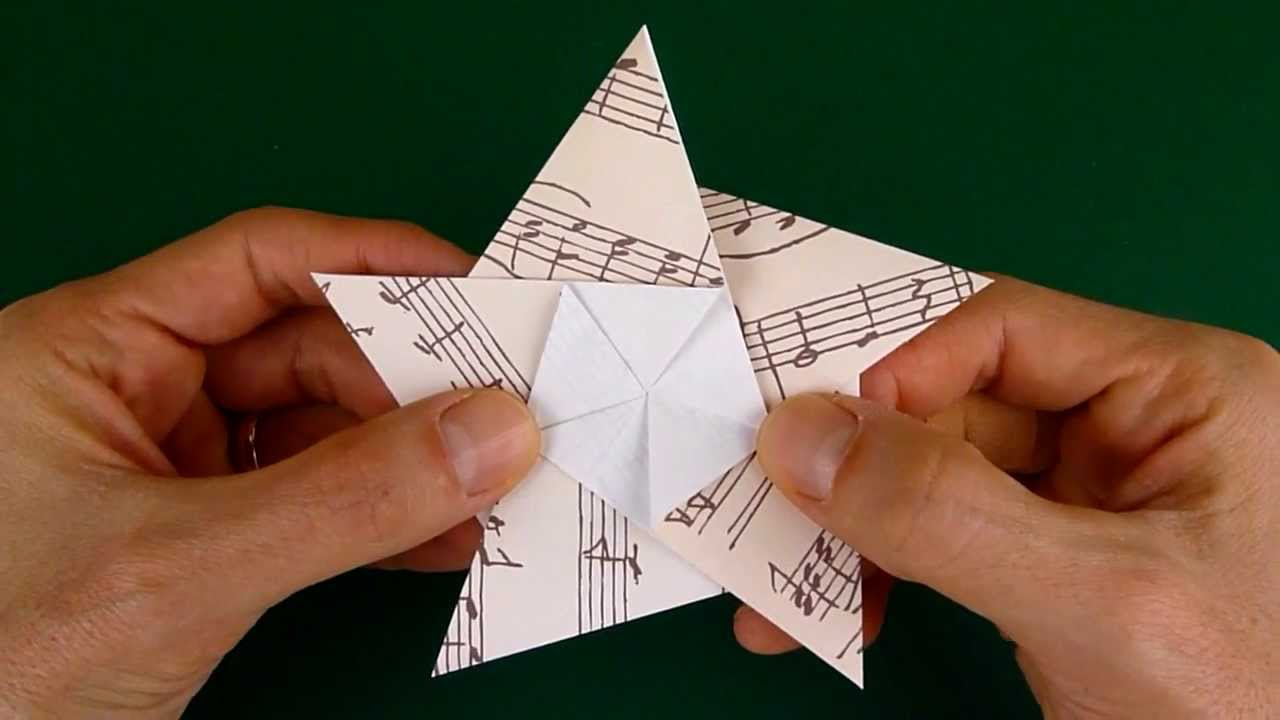 Brief Falten Youtube Folding A 5 Pointed Origami Star
