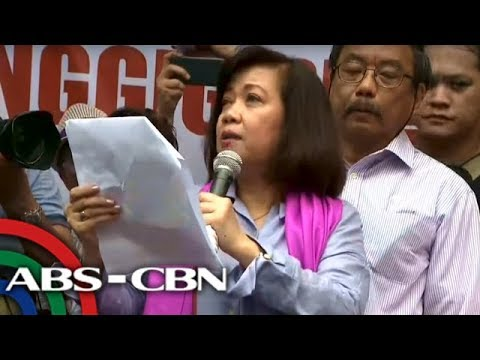 Ousted Chief Justice Sereno addresses supporters after SC vote