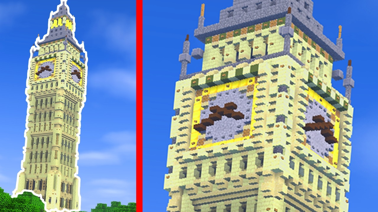 How to build the big ben in minecraft creative building youtube malvernweather Images