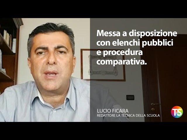 Messa a disposizione con elenchi pubblici e procedura comparativa