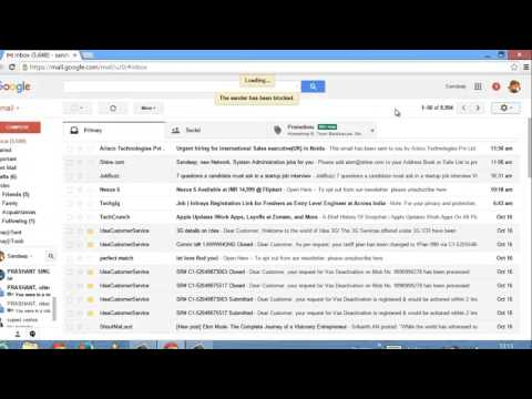 How to block gmail text messages