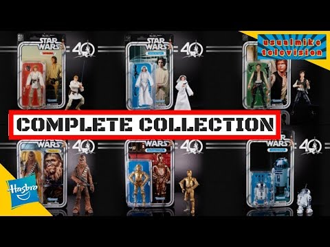 STAR WARS 40TH ANNIVERSARY THE BLACK SERIES COMPLETE SET