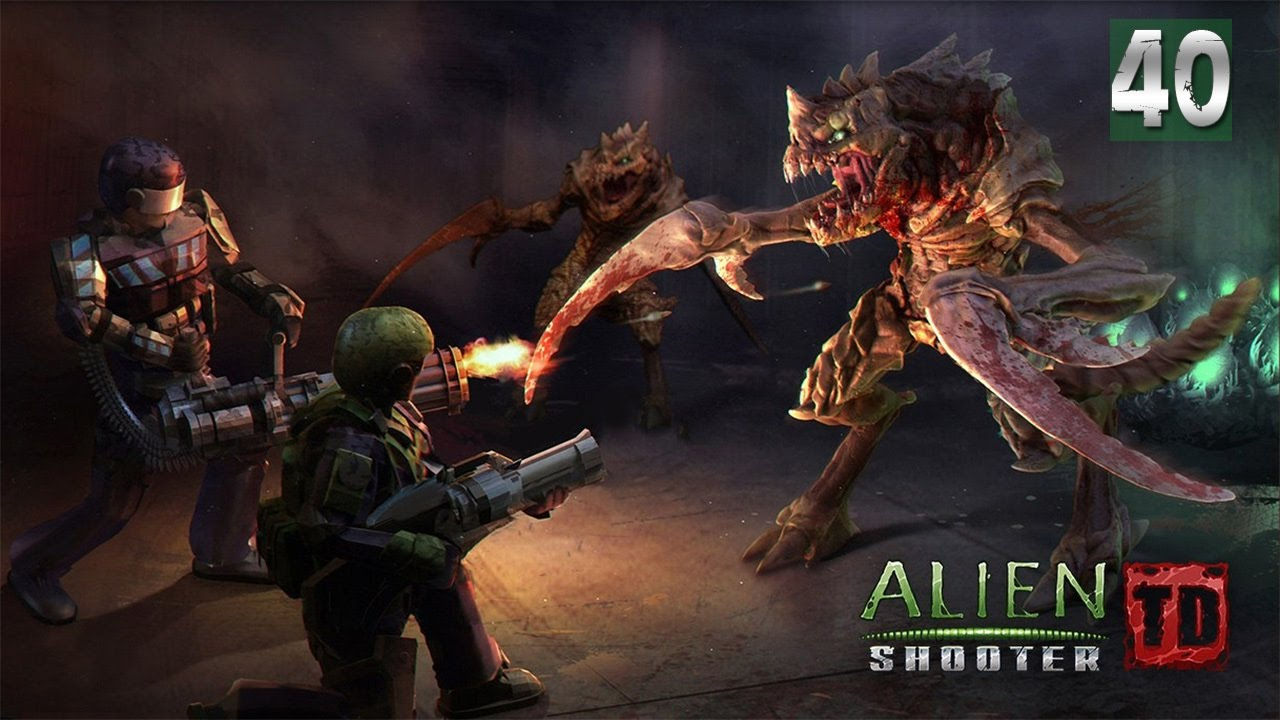 Alien Shooter TD - WALKTHROUGH - MISSION 40 HARD