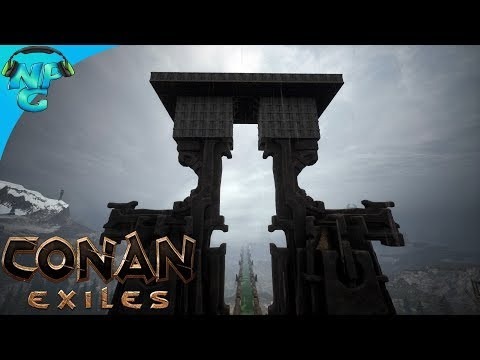Conan Exiles - Our New OP Base Location and Working with the New Building Mechanics! E12