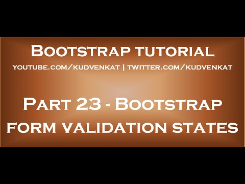 Bootstrap form validation states