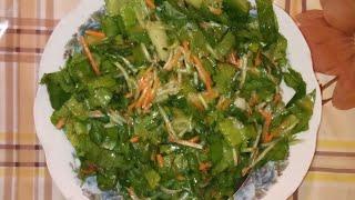 Салат 🥗 с листьями салата