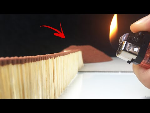 Match chain reaction amazing FIRE *ERUPTION*