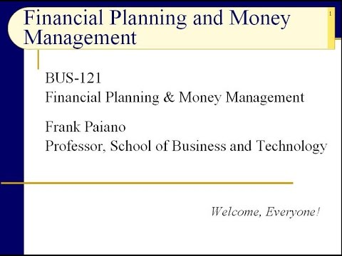 BUS121 Chapter 1 – Introduction: Personal Financial Planning – Slides 1 to 18