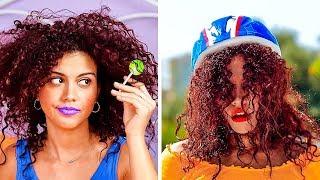 معاناة الفتيات مع أنواع الشعر || حيل مدهشة لمظهر جذاب