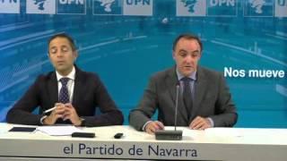 """Javier Esparza: """"Vamos a enmendar a la totalidad la subida fiscal por castigar a los navarros """""""