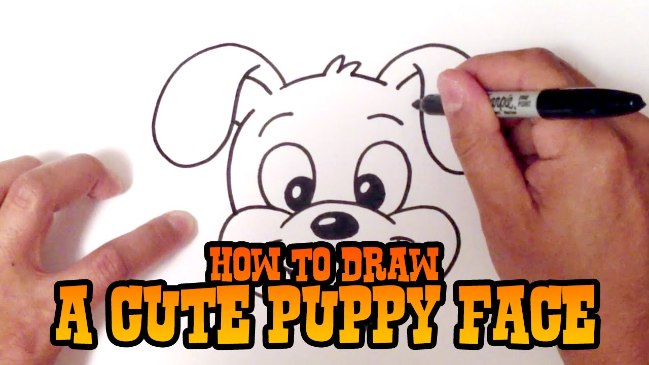 How To Draw A Cute Puppy Face Step By Step Youtube