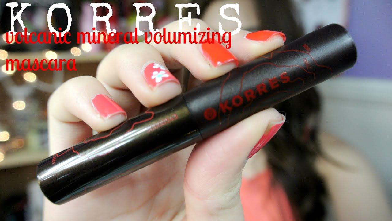 094d3ff254d {MMM}: KORRES Volcanic Mineral Volumizing Mascara First Impression/Demo!!♡
