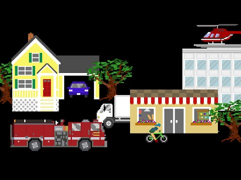 Vehicle Prepositions - Featuring Street Vehicles / City Vehicles - The Kids