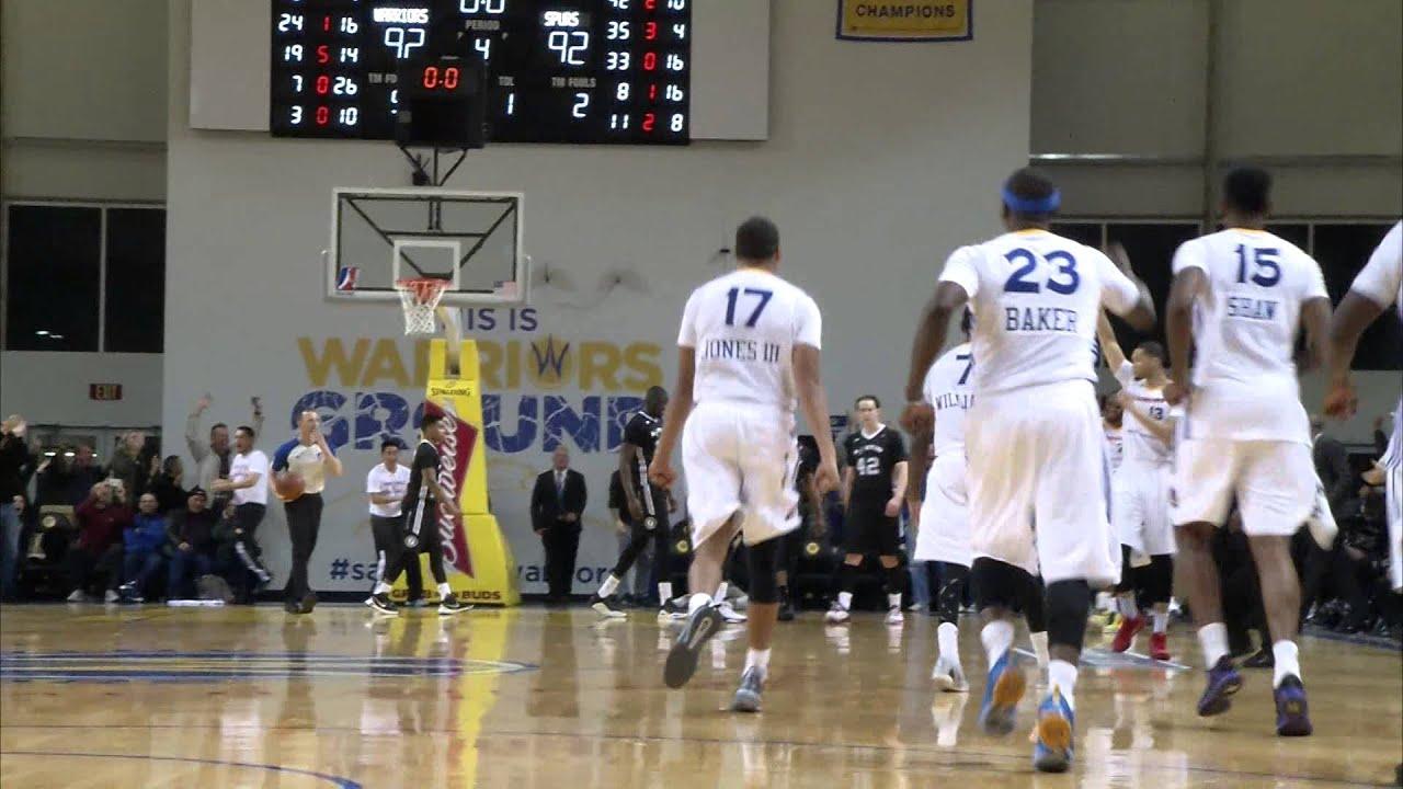 Santa Cruz Warriors Beat the Buzzer to Defeat Austin Spurs