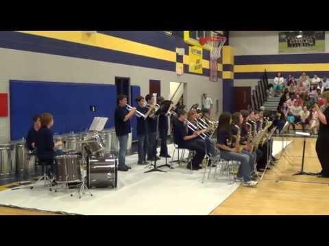 Buckhorn middle school spring concert-jazz band,