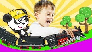 Мультфильм про Машинки - Играем с Яном и Биби. Поезд На Железной Дороге - Учим Цифры на Биби Шоу
