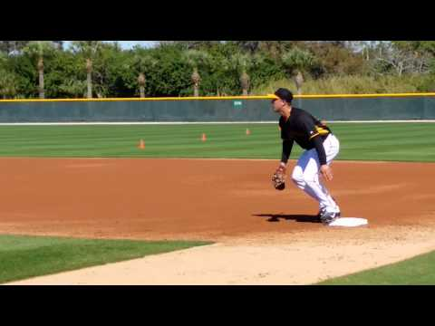 Andrew Lambo Pittsburgh Pirates First Base Drills