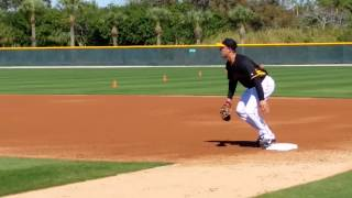 Andrew Lambo Pittsburgh Pirates First Base Drills