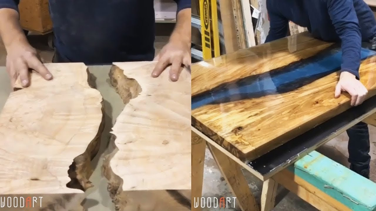 10 Awesome Making Epoxy Resin And Wood Woodworking Project Youtube