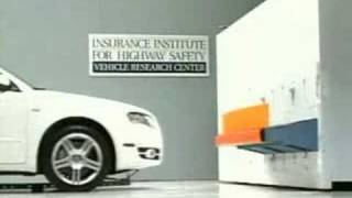 Crash Test 2007 Audi A4 (Full Bumper Test)