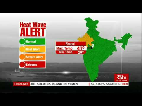 Today's Weather : Heat Wave Alert | June 08, 2018