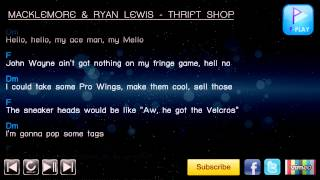 MACKLEMORE & RYAN LEWIS - THRIFT SHOP [Chord & Lyrics]