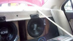 Atomic 12k Amp on 2 Custom Fi BTL Subs Hone Edition Ninja Style ~!