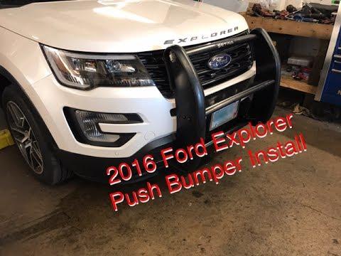 Ford Ranger Brush Guard >> 2016 Ford Explorer Push Bumper Install - YouTube
