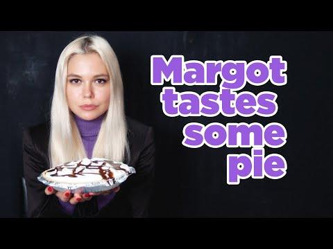 Margot tastes some pie