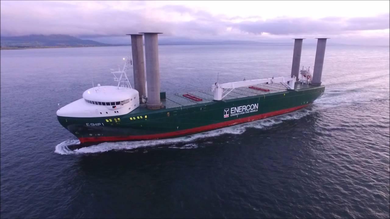 Dji Phantom 3 Advanced Enercon E Ship 1 Flettner Rotor Cargo Ship