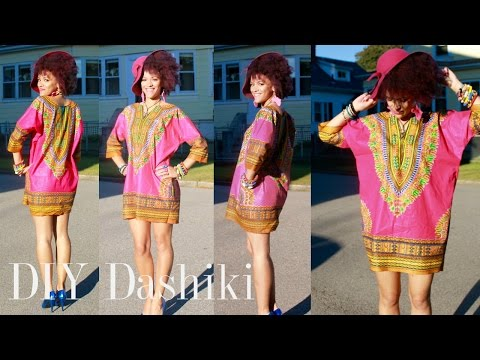 ✂ DIY African Dashiki Dress in 7 min | 10% Discount of African Print Fabrics