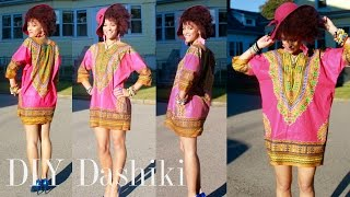 ✂ DIY African Dashiki Dress in 7 min