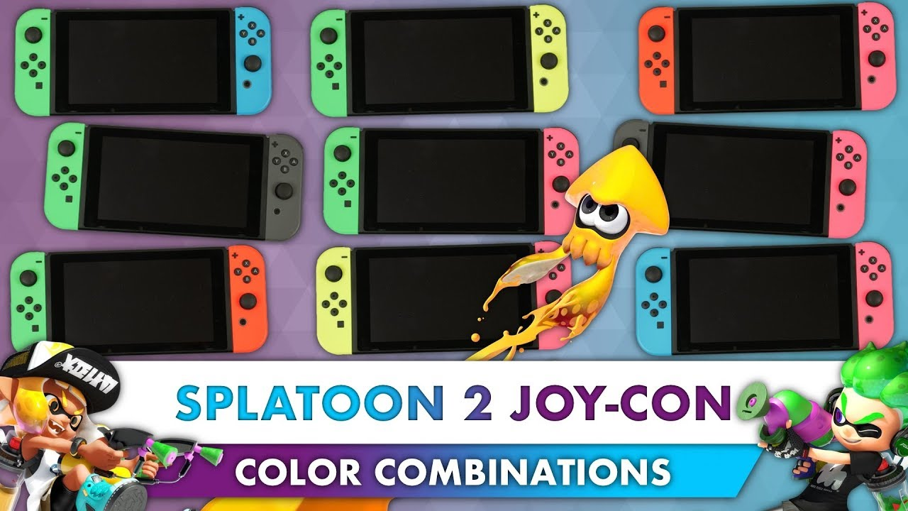 Every Nintendo Switch Neon Green Pink Joy Con Color Combination 4k Strap Yellow