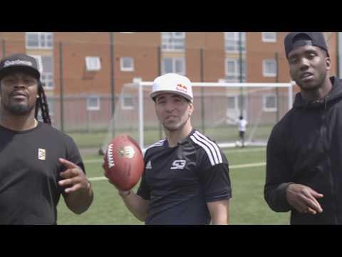 SOCCER VS AMERICAN FOOTBALL EPIC BATTLE ! Séan vs Marshawn Lynch/ Joshua Jonhson