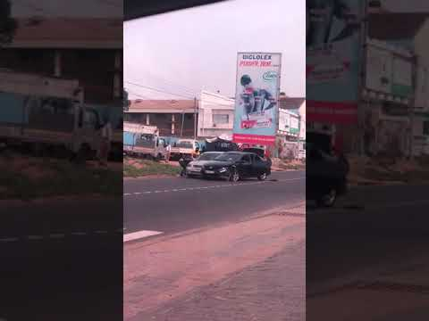 Armed Robbers Attack an Automobile Company in Accra, Snatch A Car and Bolt Away In Broad Daylight Li