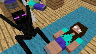 - Monster School Animal Riding Challenge Minecraft Animation