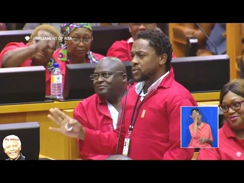 EFF Ndlozi Interrupt Pravin Gordhan Budget Speech
