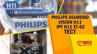 Philips DiamondVision vs IPF. Что лучше светит? Сравнительный тест. Цоколь H11.