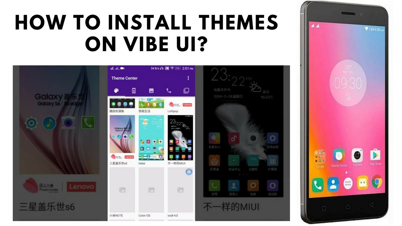How to install 146 Vibe UI themes on your Lenovo devices?