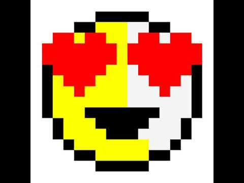 Pixel Art Smiley Amoureux Youtube