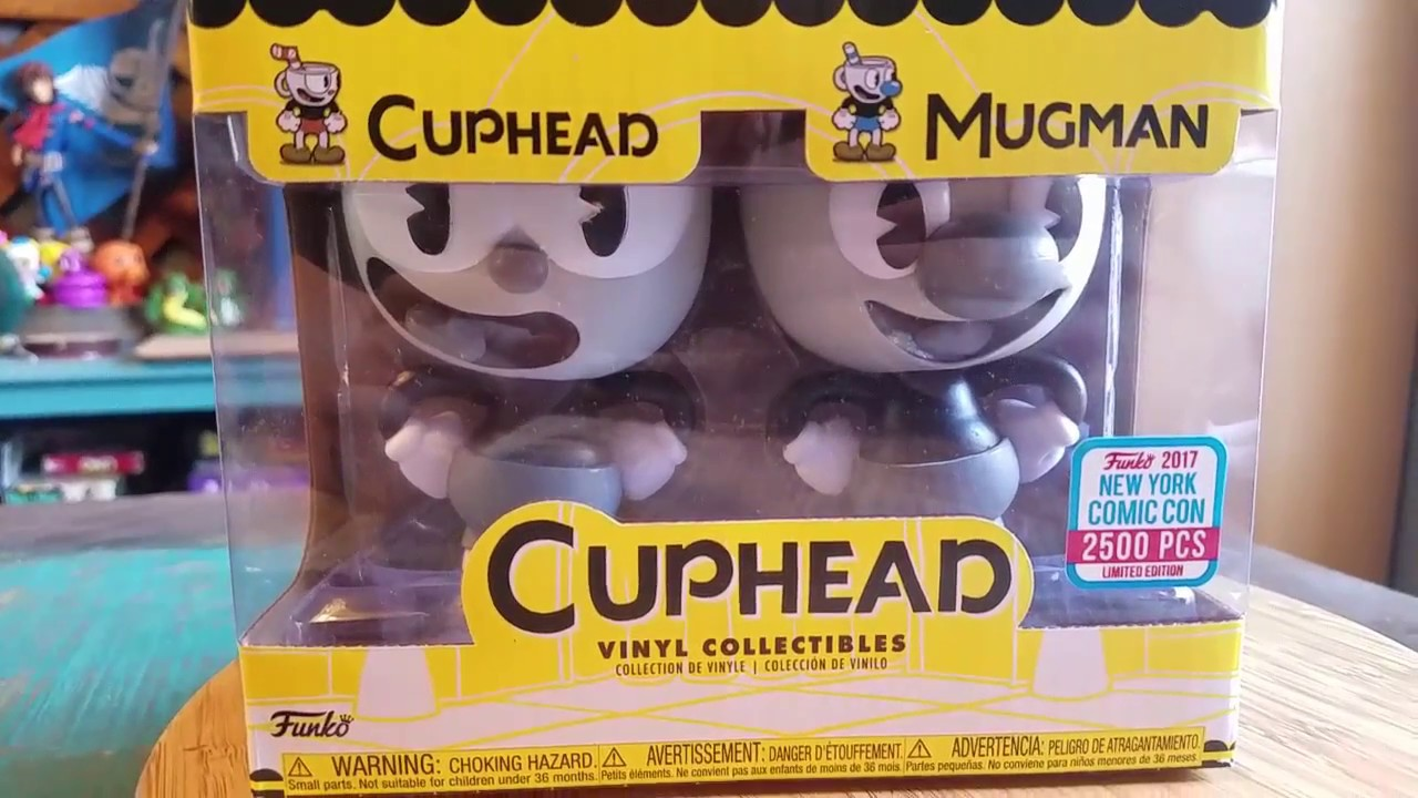 Funko Pop Cuphead Pens Set of 2 Mugman and Cuphead