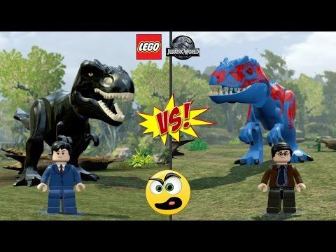 Lego Jurassic World - Batalha de Dinos ( Bruce Wayne e seu BatDino VS Clark Kent e seu SuperDino )