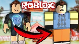 I BECOME IN THE NEIGHBOR OF HELLO NEIGHBOR IN ROBLOX !!