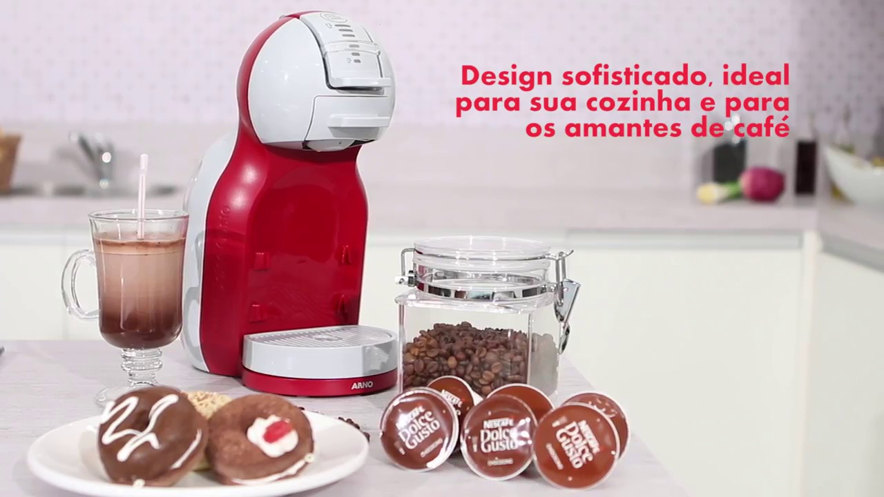 cafeteira espresso arno dolce gusto mini me vermelho youtube. Black Bedroom Furniture Sets. Home Design Ideas