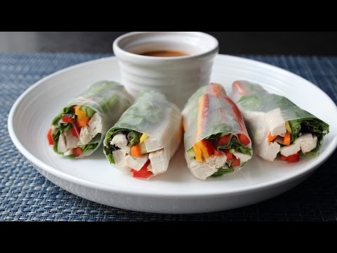 Spring Rolls - How to Make Fresh Spring Rolls - Rice Paper W