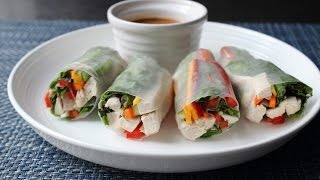 Spring Rolls - How to Make Fresh Spring Rolls - Rice Paper Wraps